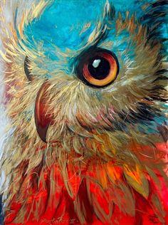Wildlife Paintings, Animal Paintings, Artist Painting, Watercolor Paintings, Pastel Artwork, Owl Photos, Beginner Painting, Owl Art, Artist Gallery