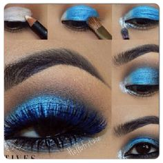Blue smokey eye