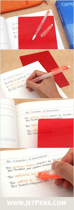Study aids like the Sakura Memorization Study Set are popular in Japan! Simply write answers with the special orange pen, then quiz yourself using the red check sheet.