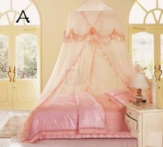 天蓋カーテン 姫系 蚊帳 3色 家具 ベッド用カーテン インテリア おしゃれ 寝具|ROOM