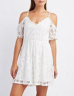 Lace Cold Shoulder Dress #CharlotteLook
