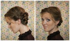 The Freckled Fox : Hair Tutorial // The Faux-Braided Updo