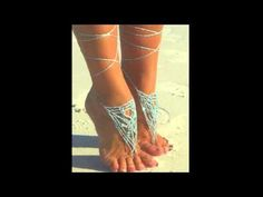 How to Crochet Barefoot Sandals: Free Crochet Pattern - YouTube