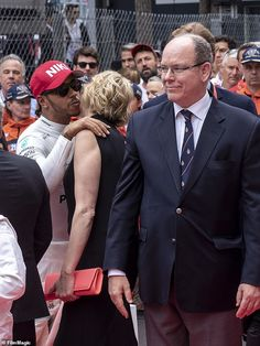 Lewis, joined the royal in paying tribute to late Formula One star Niki Lauda who died this week Prince Albert Of Monaco, Monaco Royal Family, Charlene Of Monaco, Monaco Grand Prix, Lewis Hamilton, One Star, World Leaders, Grace Kelly, Formula One