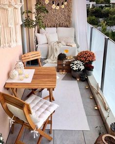 Apartment Balcony Decorating, Apartment Balconies, Porch Decorating, Decorating Ideas, Decor Ideas, Decor Diy, Bedroom Storage Ideas For Clothes, Bedroom Storage For Small Rooms, Small Balcony Decor