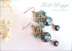 SAPPHIRE PRINCESS. Hand made earrings with surgical by TallPoppi