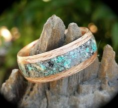 My Bentwood rings start with a very thin strip of beautiful hard wood that is steamed and laminated around itself multiple times.These are very