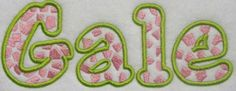 Image detail for -Giraffe Embroidery Font | Apex Embroidery Designs, Monogram Fonts ...