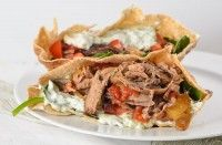 Greek Crockpot Lamb Pita A slow cooker Greek lamb recipe perfect to stuff into pitas with tzatziki for an easy meal of gyros Crockpot Lamb, Crock Pot Slow Cooker, Crock Pot Cooking, Slow Cooker Recipes, Crockpot Recipes, Pita Recipes, Healthy Recipes, Healthy Dinners, Greek Lamb Recipes