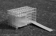 Enveloped and structurally supported by a scaffolding superstructure, the kiosk is reduced to a minimum space defined by two layers of movable translucent planes where retail 'happens'. — Openwork by Watschlam Layered Architecture, Landscape Architecture Model, Architecture Model Making, Landscape Model, Wood Architecture, Concept Architecture, Architectural Sculpture, Architectural Models, Conceptual Sketches