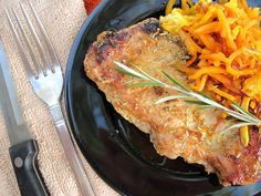 Orange and Rosemary Pork Chops with Orange Infused Butternut Squash Pasta