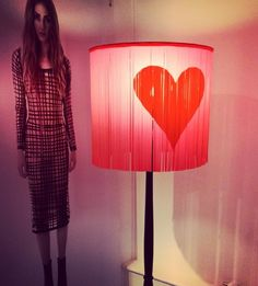 Kim West Latex valentine lampshade