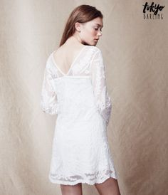 Tokyo Darling Long Sleeve Embroidered Lace Dress -