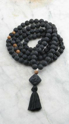 Kohala Mala 108 Lava Mala Beads Buddhist Prayer by SaltSpringMalas
