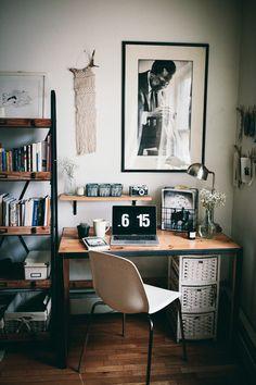 Last days in my Brooklyn apartment. Apartment Office, Brooklyn Apartment, Office Desk, Home Office, Le Happy, Home Studio, Bedroom Inspo, Decoration, Architecture Design