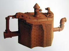 Richard Notkin - Hexagonal Curbside Teapot