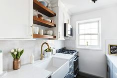 Check out the renovation, including all new materials and appliances, of a once too-tight and dark galley kitchen in Forest Hills Queens. Kitchen All the Right Decisions for a Galley Kitchen Renovation in Queens Kitchen Cabinets And Countertops, Modern Kitchen Cabinets, Kitchen Chairs, Rustic Kitchen, Kitchen Sink, Kitchen Ideas, 10x10 Kitchen, Kitchen Layouts, Condo Kitchen