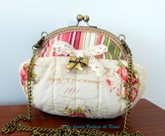 Bolso bombonera con boquilla - floral- de La Tienda Vintage de Kima por DaWanda.com