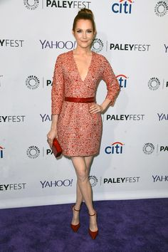 Darby Stanchfield in The 2nd Skin Co. dress - Red Candy FW14-15 Collection at The Paleyfest 2015