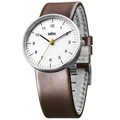 BN0021 (white/brown) by Braun at Dezeen Watch Store: http://www.dezeenwatchstore.com/shop/braun-bn0021-whitebrown/ #watches