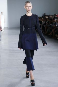 Calvin Klein Collection RTW Spring 2015 - Slideshow Like jacket detail, contrast.