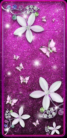 Wallpaper for my phone Sparkle Wallpaper, Flower Iphone Wallpaper, Luxury Wallpaper, Butterfly Wallpaper, Butterfly Art, Cellphone Wallpaper, Girl Wallpaper, Flower Wallpaper, Butterflies