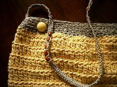 bolso en cotton cord y cáñamo