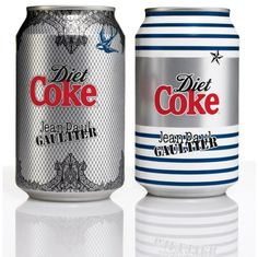 Paul Gaultier Dresses Up @DietCokeUS cans #packaging #beverage