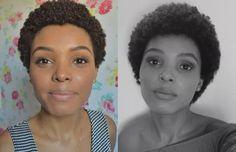 Cabelo curto e rosto redondo: Combina sim! Natural hair short and round face.