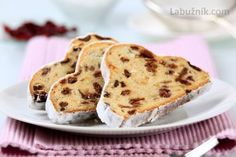 A simple recipe for a delicious festive treat: Christmas stollen with a marzipan centre topped with flaked almonds. A traditional German cake, this is a great sweet treat for the Christmas season. Christmas Stollen Recipe, Christmas Bread, Hungarian Recipes, Italian Recipes, German Recipes, German Cake, Dry Yeast, Pound Cake, Baking Recipes