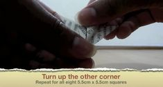 Picture of Turn Up the Other Corner Geek Cross Stitch, Cross Stitch Bookmarks, Origami Ball, Easy Origami, Origami Boxes, Origami Paper, Origami Instructions, Origami Tutorial, Diy Projects Origami