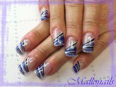Blue line by Mallonails - Nail Art Gallery nailartgallery.nailsmag.com by Nails Magazine www.nailsmag.com #nailart