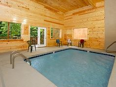 Pigeon Forge TN Cabin Rental   Your Own Private Heated Indoor Pool