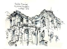 Teatro Municipal de Santiago / Salida Abril - Urban Sketchers Chile