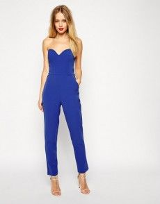 Buy ASOS Jumpsuit in Bandeau with Zipper Detail at ASOS. Get the latest trends with ASOS now. Prom Jumpsuit, Strapless Jumpsuit, Bandeau Jumpsuit, White Jumpsuit, Prom Outfits, Prom Dresses, Bridesmaid Dresses, Going Out Dresses, Models