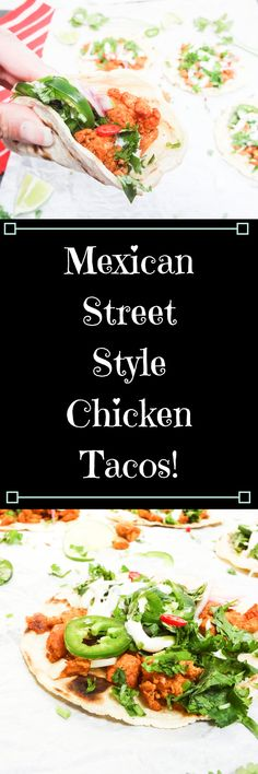 French Delicacies Essentials - Some Uncomplicated Strategies For Newbies Mexican Street Style Chicken Tacos The Mommy Spice Best Chicken Recipes, Top Recipes, World Recipes, Mexican Food Recipes, Dinner Recipes, Healthy Recipes, Ethnic Recipes, Delicious Recipes, Meal Recipes
