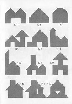 Figuras construcciones Tangram con soluciones