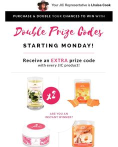 Double Prize Codes  ::: Come visit http://ift.tt/1IeUHGb  #candles #ecofriendly #healthy #lush #sale #nvusddjic #jewelry #homedecor #interiordesign #spa #relax #yogi #sahm #bosslife #fruit #spring #summer #july4 #independenceday #summer16 #promo #july #customerappreciation