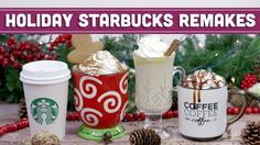 DIY Starbucks Holiday Remakes! Salted Caramel Mocha, Gingerbread Latte & More - Mind Over Munch - YouTube