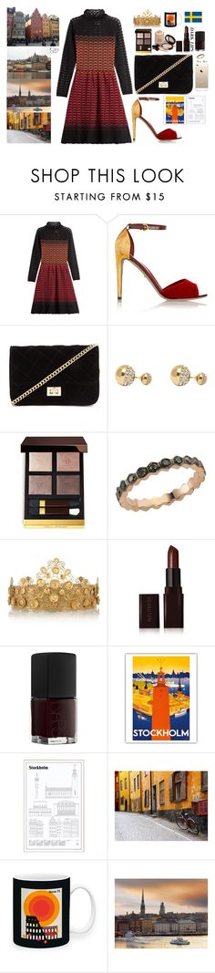 """Stockholm"" by austencatherine ❤ liked on Polyvore featuring M Missoni, Sergio Rossi, Forever 21, Adele Marie, Tom Ford, Bee Goddess, Armani Privé, Dolce&Gabbana, Laura Mercier and NARS Cosmetics"