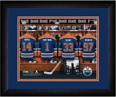 Personalized NHL Locker Room Print - Edmonton Oilers