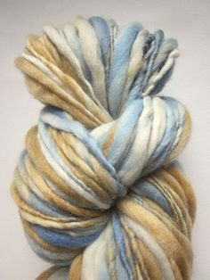 Chunky merino thick and thin knitting yarn / wool by thefibretree, £10.99