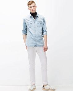 画像 1 の デニムシャツ ザラから