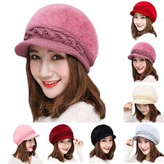 0bccbabf EnjoCho 2018 Elegant Women Knitted Hats Beanie Cap Autumn Winter Berets  Ladies Female Fashion Skullies Beret Hat