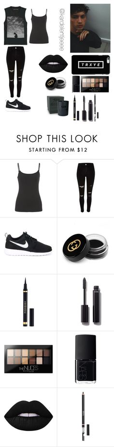"""Only fools fall for you."" by kardelentjeeee ❤ liked on Polyvore featuring maurices, River Island, NIKE, Gucci, Yves Saint Laurent, Chanel, Maybelline, NARS Cosmetics and Lime Crime"