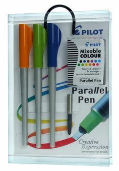 Pilot Parallel calligraphy pens - calligraphy and regular nib in one - LOVE my parallel pens