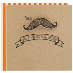 Birthday card with fun moustache from Paperchase. #birthdaycard #cards #moustache