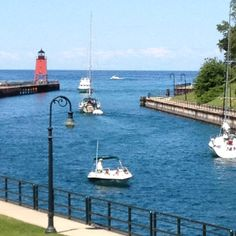 Channel leading from Round Lake into Lake Michigan... Charlevoix, MI