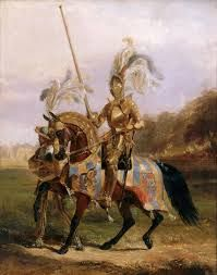Edward Henry Corbould [1815-1905] 'At Eglington, Lord of the Tournament' [1840]