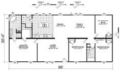 Floorplan.  3br, 2ba. 2000 sf